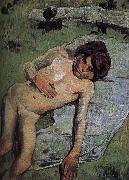 Paul Gauguin Brittany nude juvenile oil painting picture wholesale