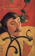 Paul Gauguin With yellow halo of self-portraits oil painting picture wholesale