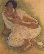 Paul Gauguin Tahiti woman oil painting reproduction