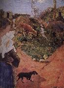 Paul Gauguin Brittany woman with calf oil painting picture wholesale