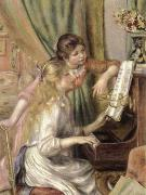 Pierre-Auguste Renoir young girls at the piano oil painting on canvas