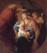 Pompeo Batoni Holy Family with St. John the Baptist oil painting picture wholesale