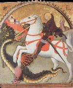 SANO di Pietro St.George and the Dragon oil painting picture wholesale