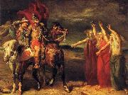 Theodore Chasseriau Macbeth and Banquo meeting the witches on the heath. oil painting picture wholesale