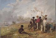 Thomas Baines Aborigines near the mouth of the Victoria River oil painting picture wholesale