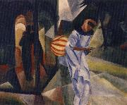 auguste macke pierrot oil painting