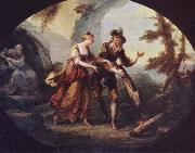 Angelica Kauffmann Miranda and Ferdinand in The Tempest oil
