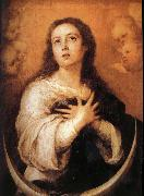 Bartolome Esteban Murillo Half month's pure conception of Our Lady oil painting reproduction