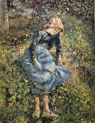Camille Pissarro girls oil painting picture wholesale