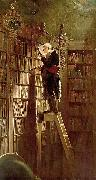 Carl Spitzweg The Bookworm, oil painting picture wholesale