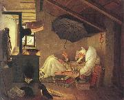 Carl Spitzweg The Poor Poet, oil painting picture wholesale
