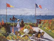 Claude Monet Jardin a Sainte Adresse oil painting picture wholesale