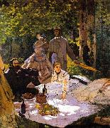Claude Monet Le dejeuner sur lherbe oil painting picture wholesale