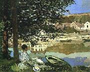 Claude Monet On the Bank of the Seine, Bennecourt, 1868 oil painting picture wholesale