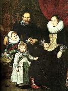 Cornelis de Vos the painter and his family oil