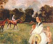 Edmund Charles Tarbell Schooling the Horses, oil painting picture wholesale