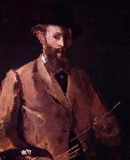 Edouard Manet Self portrait with palette oil painting picture wholesale