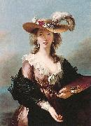 Elisabeth Louise Viegg-Le Brun Self portrait in a Straw Hat, oil