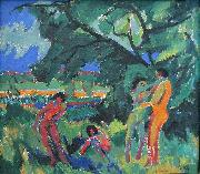 Ernst Ludwig Kirchner Naked Playing People oil painting reproduction