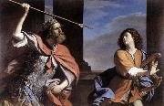 GUERCINO Saul Attacking David oil painting reproduction