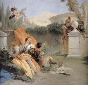 Giovanni Battista Tiepolo NA ER where more and Amida in the garden oil painting reproduction