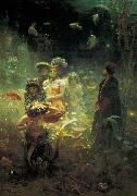 Ilya Repin Sadko in the Underwater Kingdom, oil painting picture wholesale