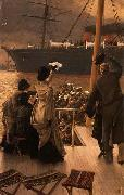 James Tissot Goodbye, on the Mersey, oil painting picture wholesale