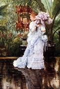James Tissot Lilacs, oil painting picture wholesale