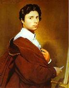 Jean Auguste Dominique Ingres Self portrait at age 24 Germany oil painting reproduction