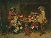 Jean-Louis-Ernest Meissonier A Game of Piquet, oil painting picture wholesale