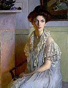 Lilla Cabot Perry Lady with a Bowl of Violets oil painting artist