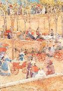 Maurice Prendergast Afternoon. Pincian Hill oil painting picture wholesale