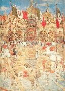 Maurice Prendergast Courtyard Scene oil painting picture wholesale