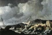 PEETERS, Bonaventura the Elder Storm on the Sea oil painting artist