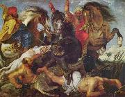 Peter Paul Rubens Rubens is known for the frenetic energy and lusty ebullience of his paintings, as typified by the Hippopotamus Hunt oil painting picture wholesale