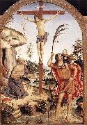 Pinturicchio The Crucifixion with Sts. Jerome and Christopher, oil painting picture wholesale