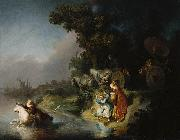 REMBRANDT Harmenszoon van Rijn The Abduction of Europa, oil painting picture wholesale