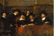 REMBRANDT Harmenszoon van Rijn The Syndics of the Clothmakers Guild, oil painting picture wholesale