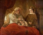 REMBRANDT Harmenszoon van Rijn Jacob blessing Joseph second son, oil painting reproduction