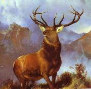Sir edwin henry landseer,R.A. Monarch of the Glen by Sir Edwin Landseer oil painting artist