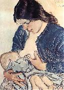 Stanislaw Wyspianski Motherhood, oil painting artist