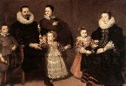 VOS, Cornelis de Family Portrait oil painting artist