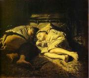 Vasily Perov Sleeping children oil painting picture wholesale
