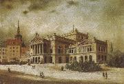 arthur o shaughnessy the leipzig opera house in the augstusplatz oil painting