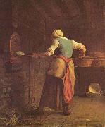 jean-francois millet Woman Baking Bread oil painting picture wholesale