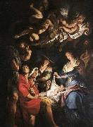 unknow artist Adoration of the Shepherds oil painting reproduction