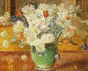 Anna Ancher en buket blomster oil