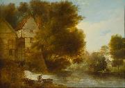 John Webber John Webber s oil painting  Abbey Mill Shrewsbury oil