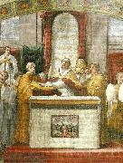 Raphael oath of pope leo 111fresco detail oil painting reproduction