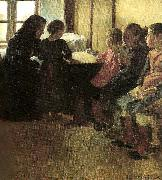 oscar bjorck madam henriksens pigeskole i skagen oil painting reproduction
